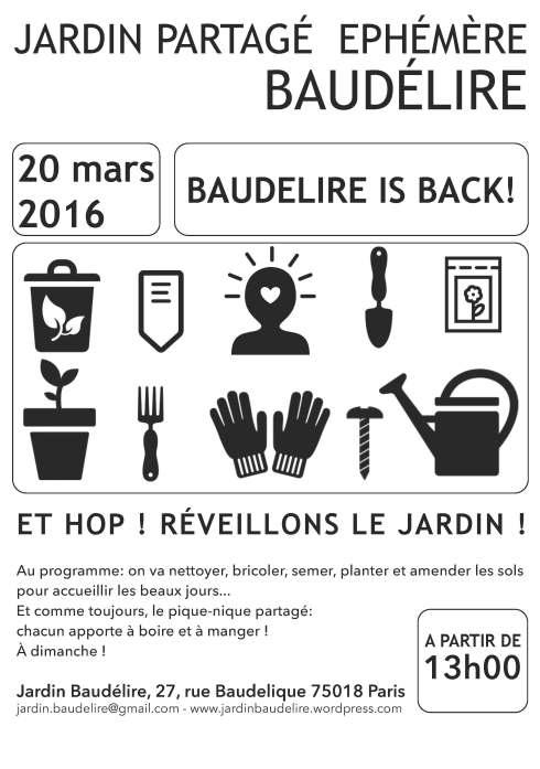 Affiche 20 mars Baudélire