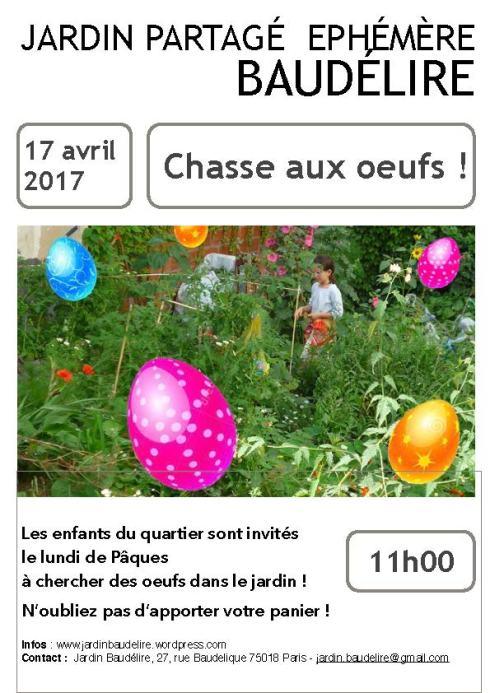 Affiche 17 avril 2017 Baudélire