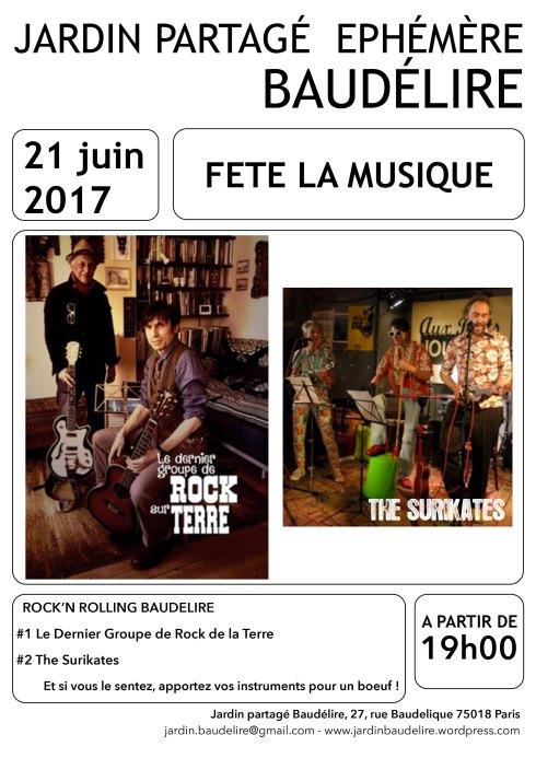 Affiche 21 juin Baudélire